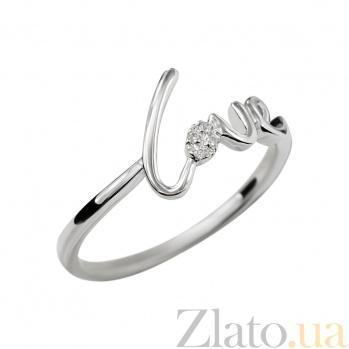 Золотое кольцо с бриллиантом Love 000029282