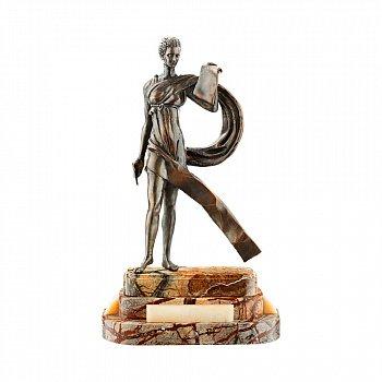 Бронзова скульптура Калліопа на підставці з яшми і онікса 000051950