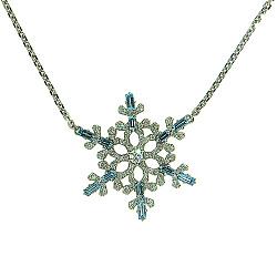 Колье из белого золота с бриллиантами и лондон топазами  Fresh 000022433