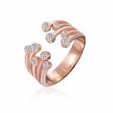 Серебряное кольцо Арвен с фианитами и позолотой