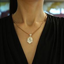 Ладанка из золота с ликом Владимирской Божьей Матери