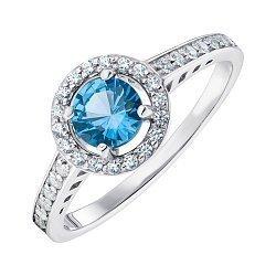 Серебряное кольцо со шпинелью london и фианитами 000148940