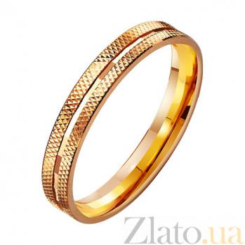 Золотое обручальное кольцо Свадебный вальс TRF--411018