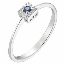 Золотое кольцо Дора с сапфиром и бриллиантами