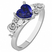 Золотое кольцо с сапфиром Idile