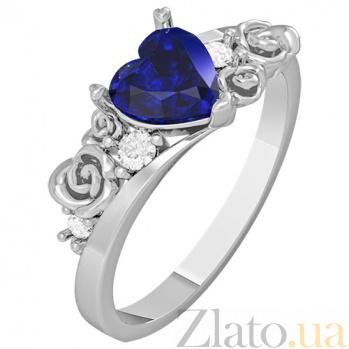 Золотое кольцо с сапфиром Idile KBL--К1109/бел/сапф