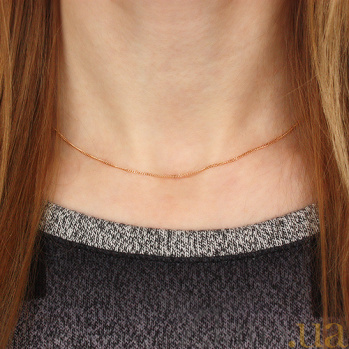 Золотая цепочка Алисия в панцирном плетении, 1мм 000078657