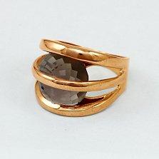 Золотое кольцо с раухтопазом Сюрприз