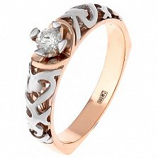 Золотое кольцо Crazy Love с бриллиантом