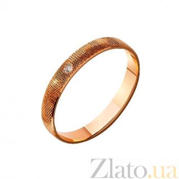 Золотое обручальное кольцо с фианитом Неотразимый облик TRF--4121219