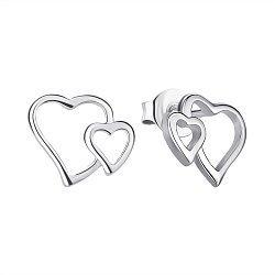 Серебряные серьги-пуссеты 000143874