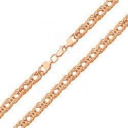Цепочка из красного золота  в плетении ромб 000131595