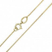 Золотая цепочка Грани в желтом цвете плетения круглый снейк с алмазной насечкой, 1мм