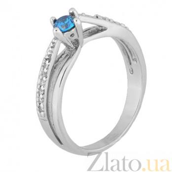Серебряное кольцо с голубым фианитом Балет 000028141