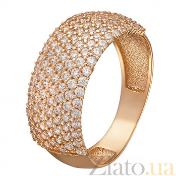 Кольцо в красном золоте Алания с фианитами 000023965