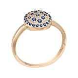 Кольцо в красном золоте Феерия с сапфирами