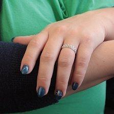 Серебряное кольцо-корона Эльта с белыми фианитами