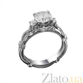 Золотое кольцо с бриллиантами Будур KBL--К1197/бел/брил