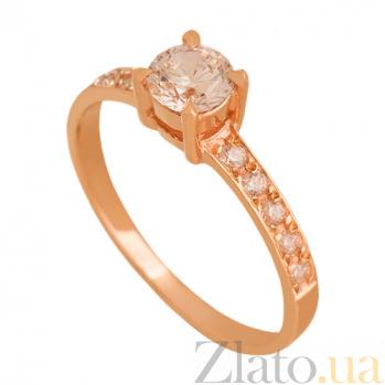 Золотое кольцо с фианитами Мануэла 000024340