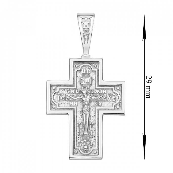 Православный серебряный крестик 000135381 000135381