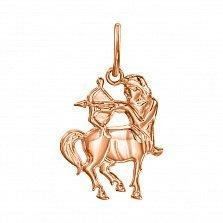 Кулон из красного золота Знак Зодиака Стрелец 000121547