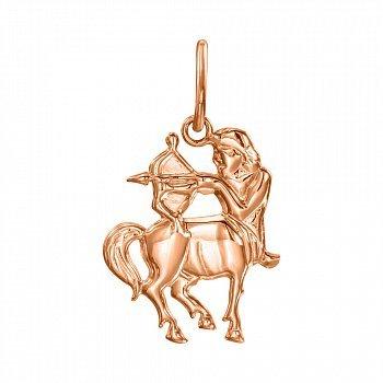 Кулон із червоного золота Знак Зодіаку Стрілець 000121547