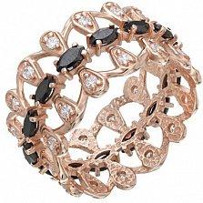 Золотое кольцо Кружево с фианитами