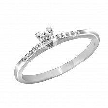 Кольцо из белого золота Кассандра с бриллиантами