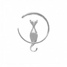 Серебряный кулон Кошка на луне