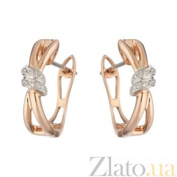 Золотые серьги с бриллиантами Ева 1С551-0308