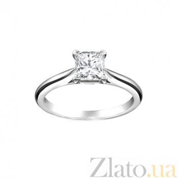 Золотое кольцо с аквамарином Счастливая принцесса 000029781