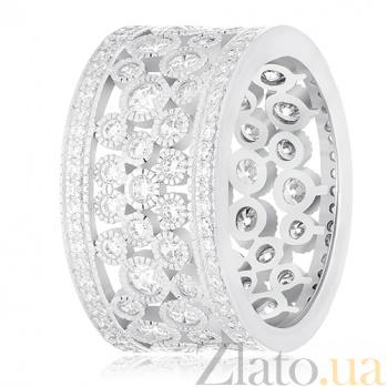 Серебряное кольцо Витория с фианитами 000030904
