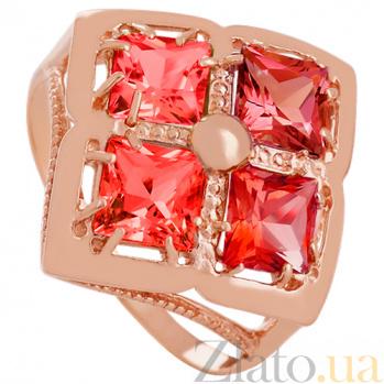Золотое кольцо с гранатом Белинда 000029476
