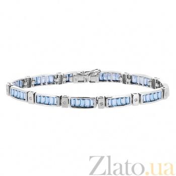 Браслет из белого золота с топазами и бриллиантами Стронг ZMX--BCT-6104-12w_K