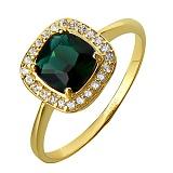 Золотое кольцо с зеленым кварцем Алия