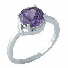 Серебряное кольцо Хемми с александритом и элементами плетения