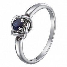 Кольцо в белом золоте Орбита с сапфиром