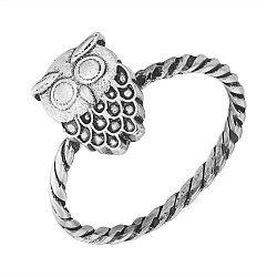 Серебряное кольцо Owl с чернением 000103156