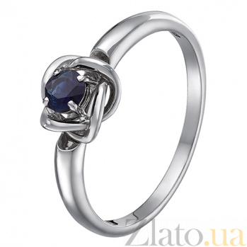 Кольцо в белом золоте Орбита с сапфиром SVA--1190362202/Сапфир