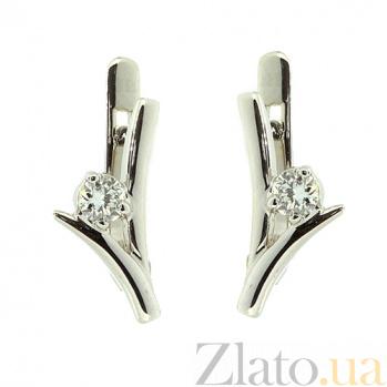 Золотые серьги с бриллиантами Хельга ZMX--ED-6776w_K