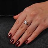 Золотое кольцо с кристаллом Swarovski Неповторимая