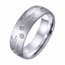 Золотое обручальное кольцо Северное сияние с фианитами