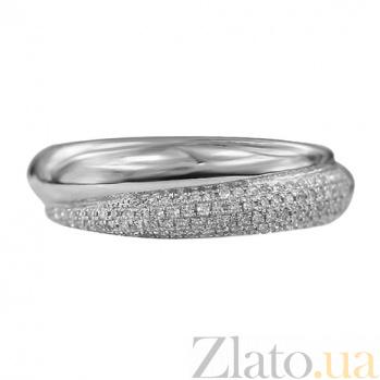Золотое кольцо в белом цвете с бриллиантами Вселенная 000026857