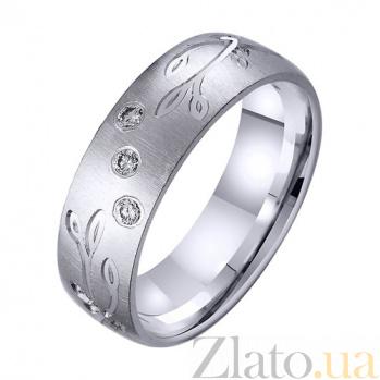 Золотое обручальное кольцо Северное сияние с фианитами TRF--4221761