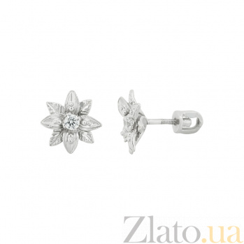 Серебряные серьги с цирконием Лэйла 3С449-0083
