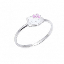 "Серебряное детское кольцо ""Hello Kitty"""