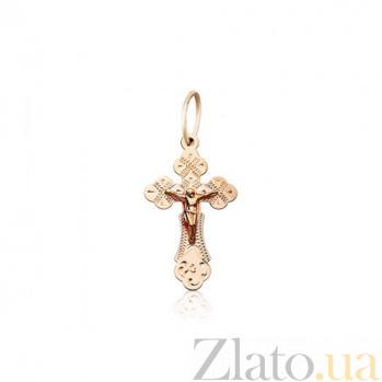Золотой нательный крестик Сияние веры EDM--КР052