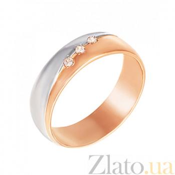 Золотое обручальное кольцо История любви с бриллиантами 000103696