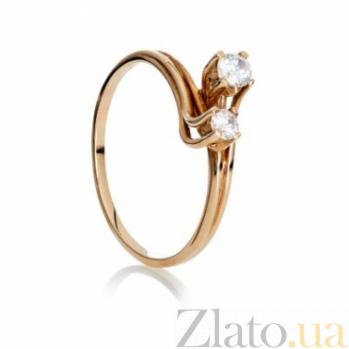 Золотое кольцо с фианитами Джужит 000030625
