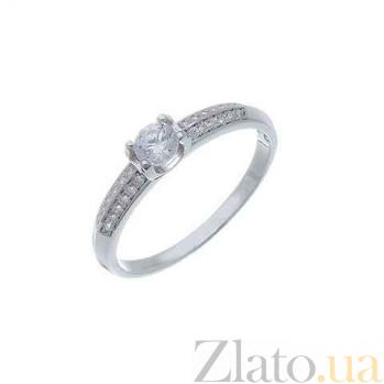Серебряное кольцо на помолвку с куб.цирконом AQA--WJR-0110